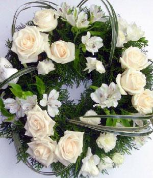Livraison de Fleurs Couronnes mortuaires